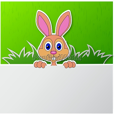 paper cut of cute rabbit with