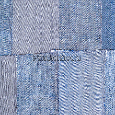 patchwork from old denim flaps