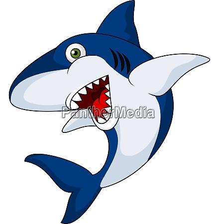 smiling shark cartoon