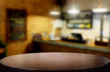 selected focus empty brown wooden table