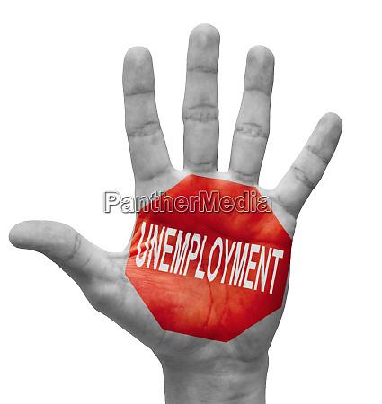 unemployment stop concept