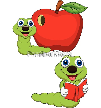 worm reading book