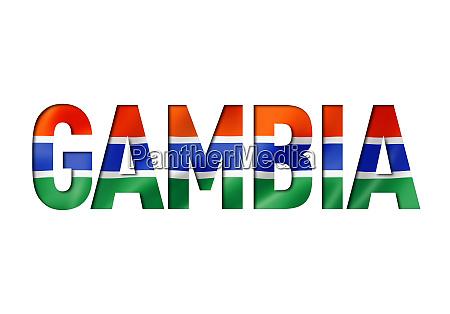 gambian flag text font