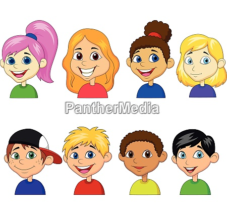 boys and girls cartoon