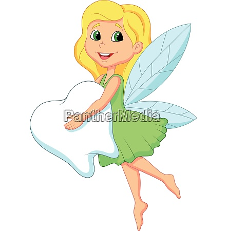 illustration of a cute tooth fairy