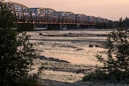 bridge in the landscape of the