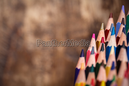 a group of bright wooden pencils