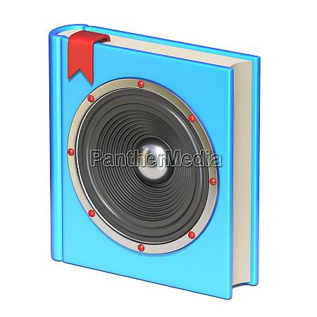 blue book with speaker audio book
