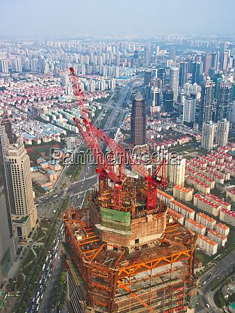 skyscraper on construction