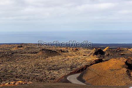 view at multi colored volcanic landscape