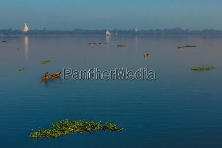 taungthaman lake amarapura mandalay state myanmar