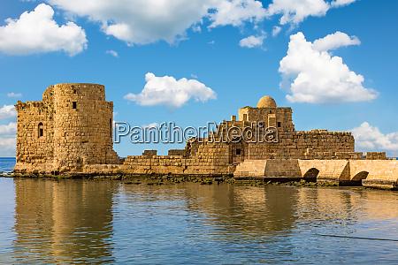 crusaders sea castle sidon saida south