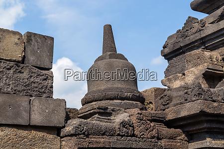 stupas in borobudur temple