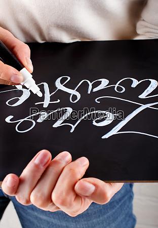 woman, writing, , zero, waste, on - 28016468