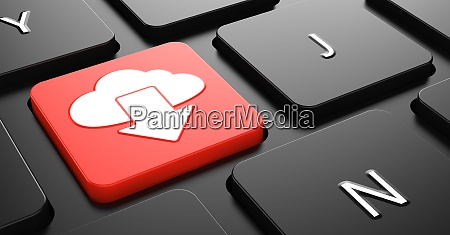 cloud icon on red keyboard button