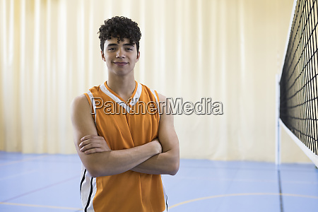 portrait of volleyball player on a