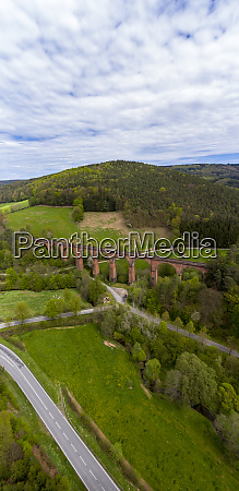 germany hesse erbach aerial view of