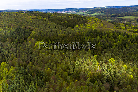 germany hesse aerial view of green