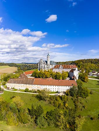 germany baden wuerttemberg neresheim aerial view