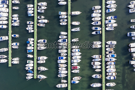 spain mallorca aerial view of boats