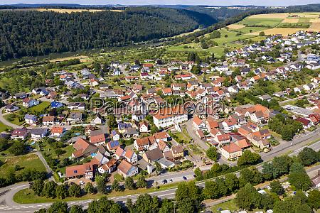germany bavaria binau aerial view of