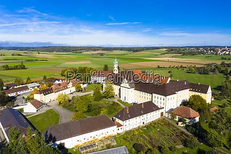 germany bavaria augsburg aerial view of