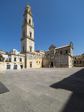 exterior of lecce cathedral against clear