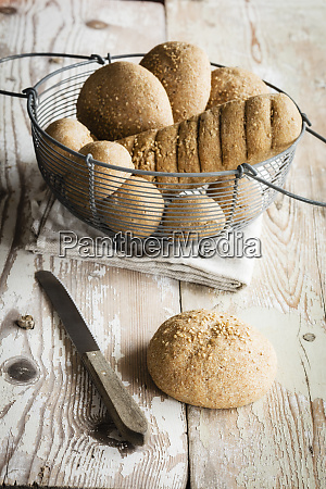 crunchy home baked buns and baguette