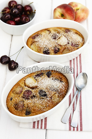 bowls of gluten free homemade clafoutis