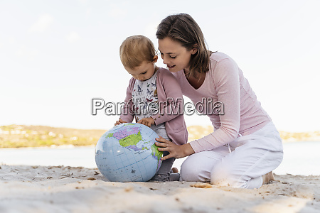 mother and little daughter on the