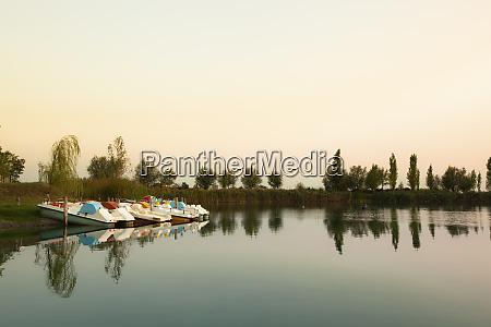 italy emilia romagna paddle boats on