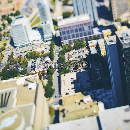 usa georgia atlanta aerial view of