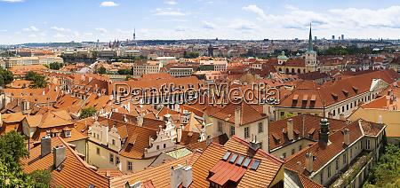 czech republic prague panorama oflesser town