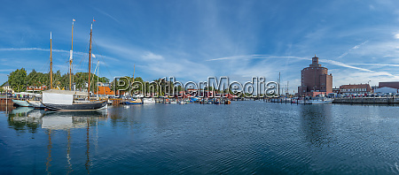germany schleswig holstein eckernfoerde fishing harbour