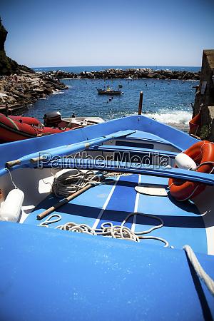 boat at the coast manarola liguria