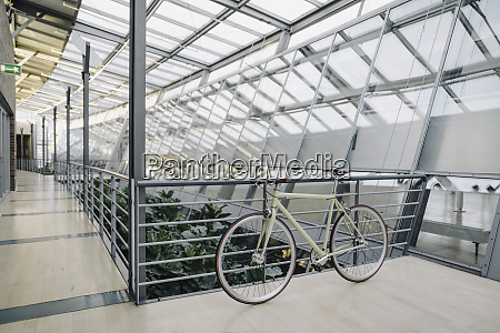 bicycle in a modern office building