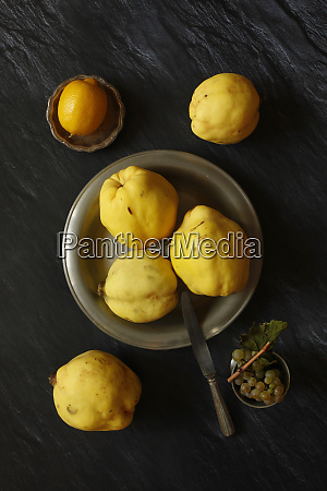 still, life, with, quinces, , lemon, and - 28024489