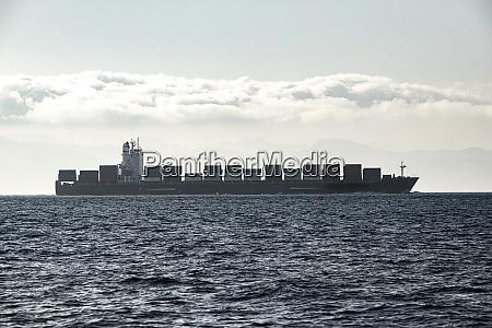 spain andalucia tarifa freight ship in