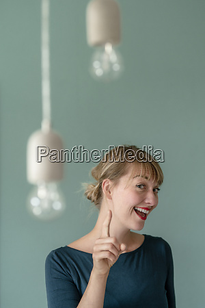 portrait of excited woman