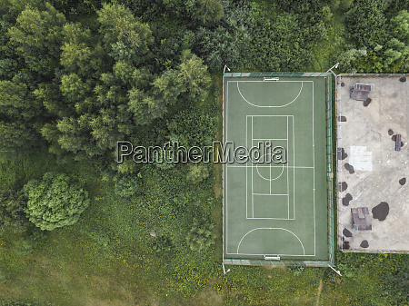 aerial view of soccer field moscow