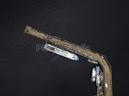russia saint petersburg aerial view of