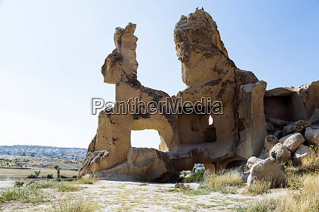scenic view of rock formations against