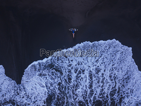 aerial view of young woman with