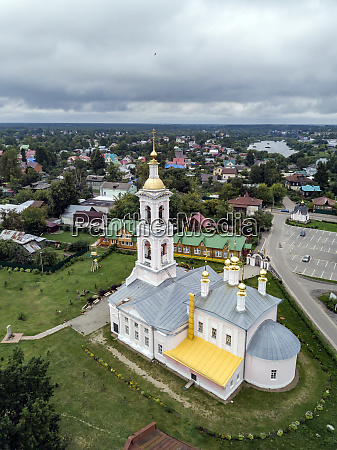aerial view of ascension church against