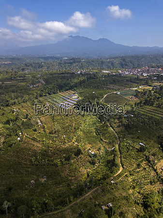 aerial view of bali island against
