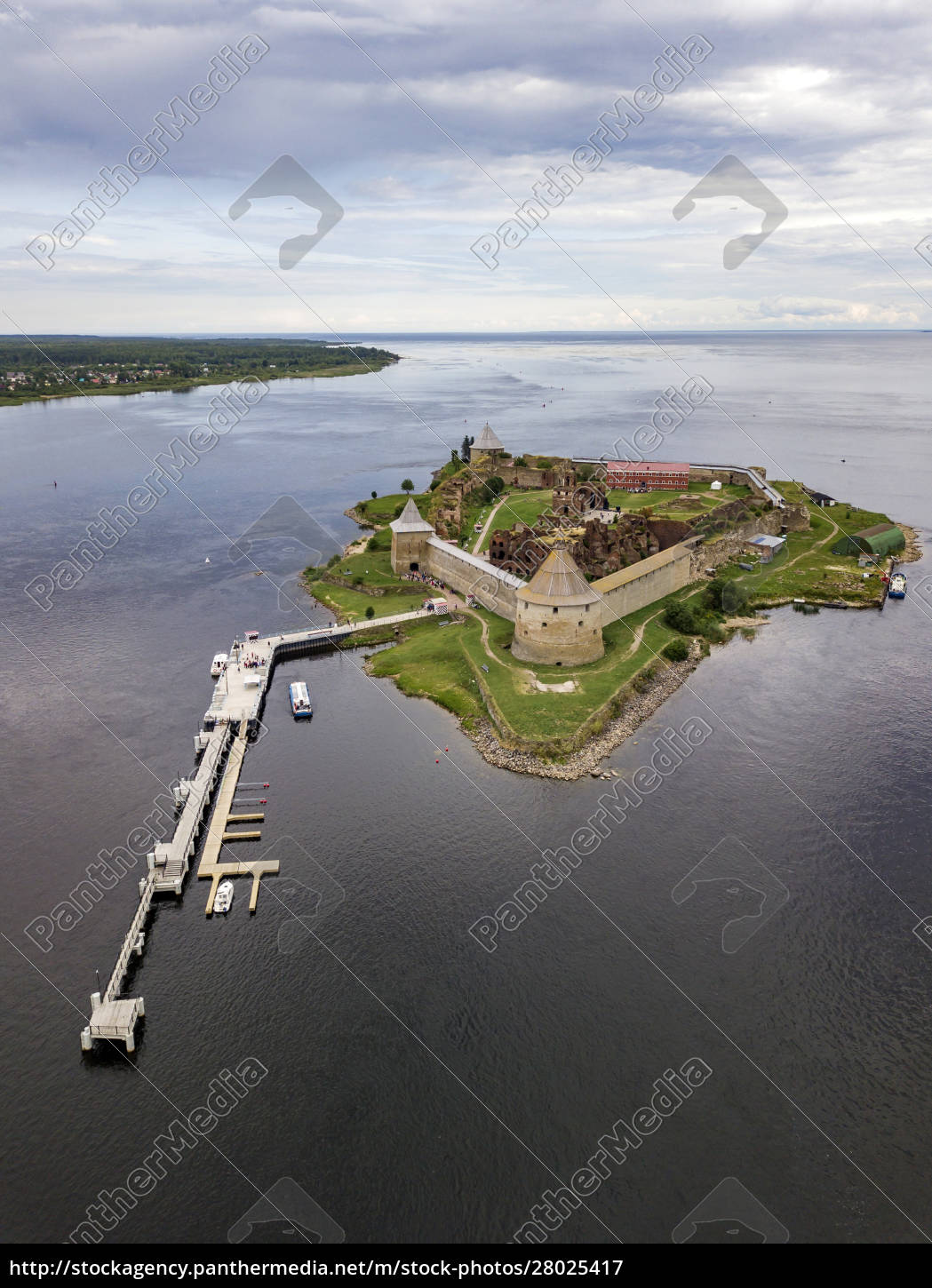 aerial, view, of, oreshek, fortress, at - 28025417
