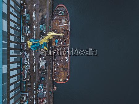aerial, view, of, ship, in, neva - 28025356