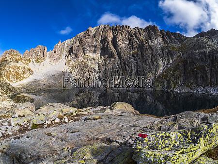 mountain lake at cima dasta fiemme