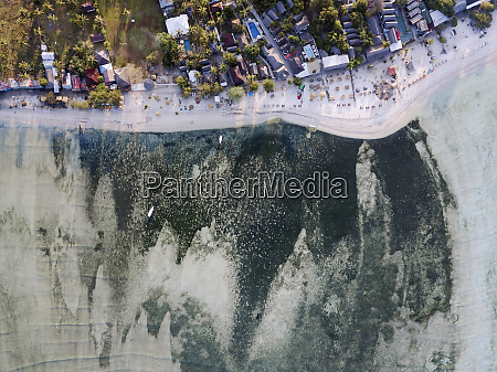 drone view of gili air island