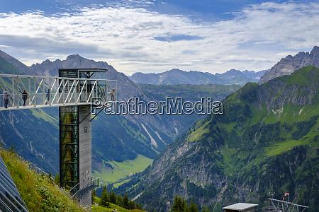 austria vorarlberg mittelberg skywalk overlooking scenic